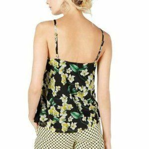 NWT INC Dark Floral Pansy Tiered Camisole Blouse
